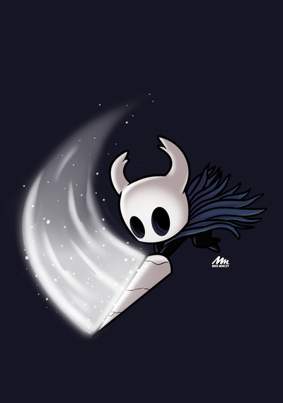 Hollow Knight art drawn by Mike Mincey in photoshop digital art team cherry fanart design