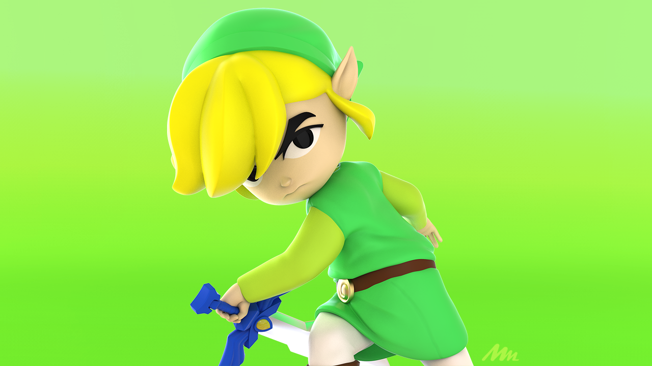 Toon Link 3d Zbrush model by Mike Mincey Art for #6fanartchallenge. Zelda is owned by Nintendo