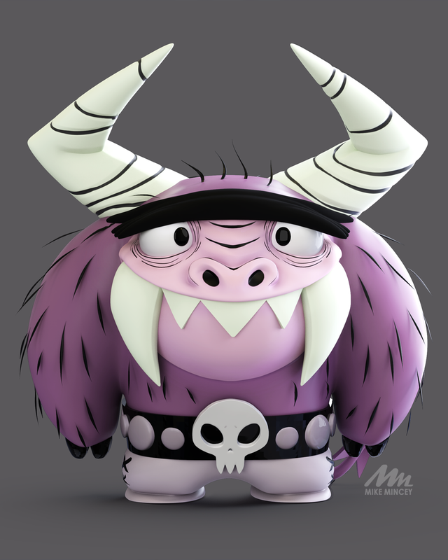 foster home for imaginary friends eduardo 3d model by Mike Mincey Art done in Zbrush