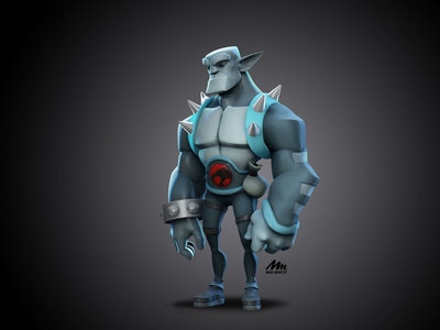 Here goes my first 3D model out of Shane Olson's 3D character workshop, Based on a Mike Henry concept, Zbrush modeling by Mike Mincey, Panthro from Thundercats in 3d